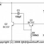 Cztery diody LED zasilane na 1.5V