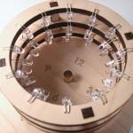 Zegar słoneczny na diodach LED RGB
