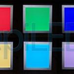 Kolorystyka panelu LED RGB 20x20 cm