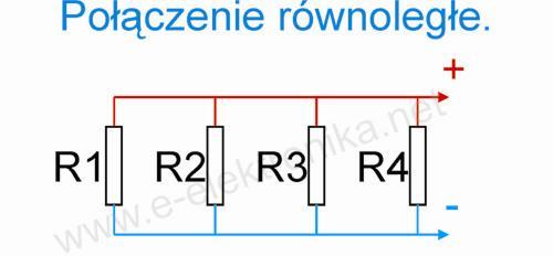 Połączenie szeregowe i równoległe rezystorów.