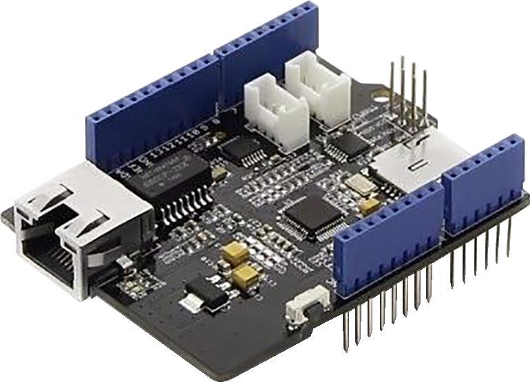 Fot. 3. Moduł rozszerzenia z interfejsem Ethernet. Może przydać się do urządzeń automatyki domowej.