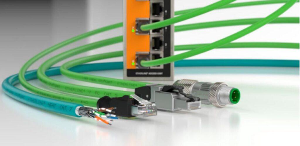 Przewody dedykowane Ethernetowi w wersji przemysłowej.